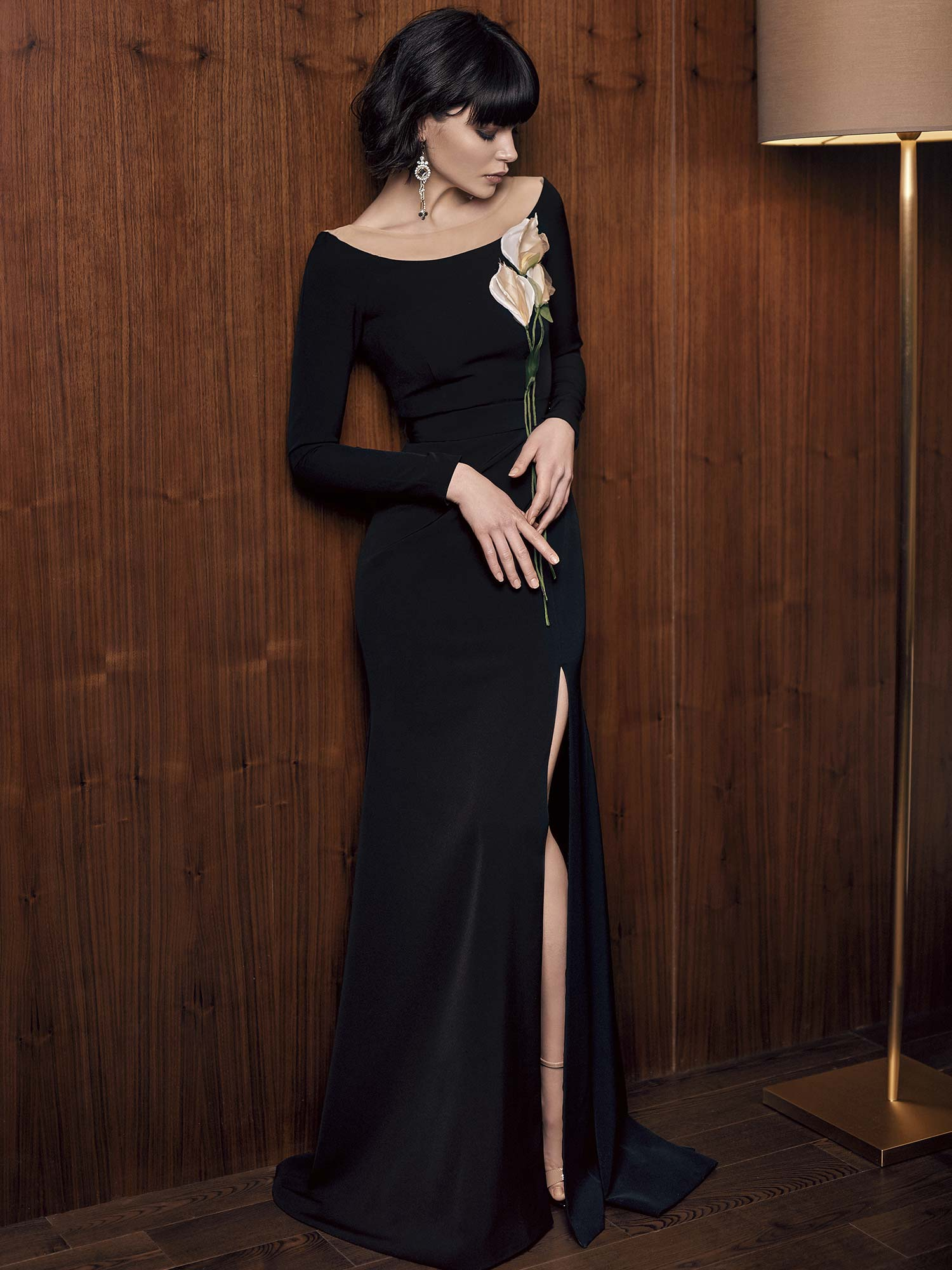 e3ca4ecfd6055 Long Sleeve Fitted Evening Gown - raveitsafe