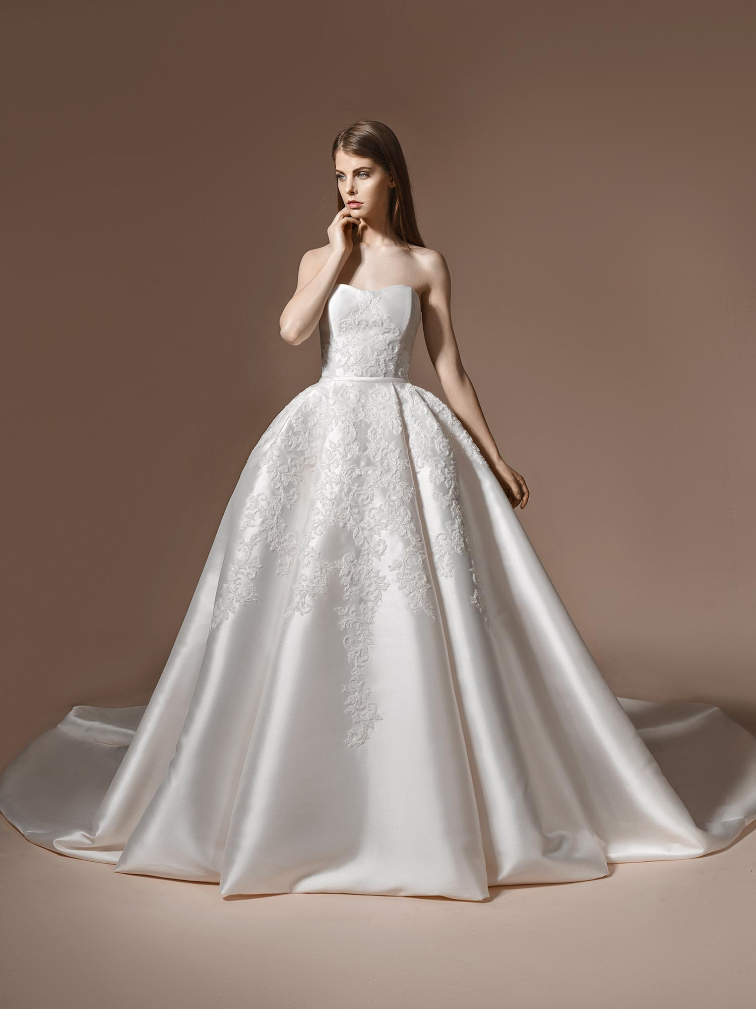 Papilio Sweetheart neckline ball gown wedding dress with embroidery